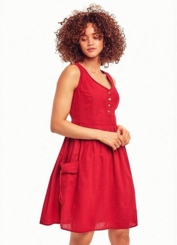 kirmizi-maroon-elbise (2)