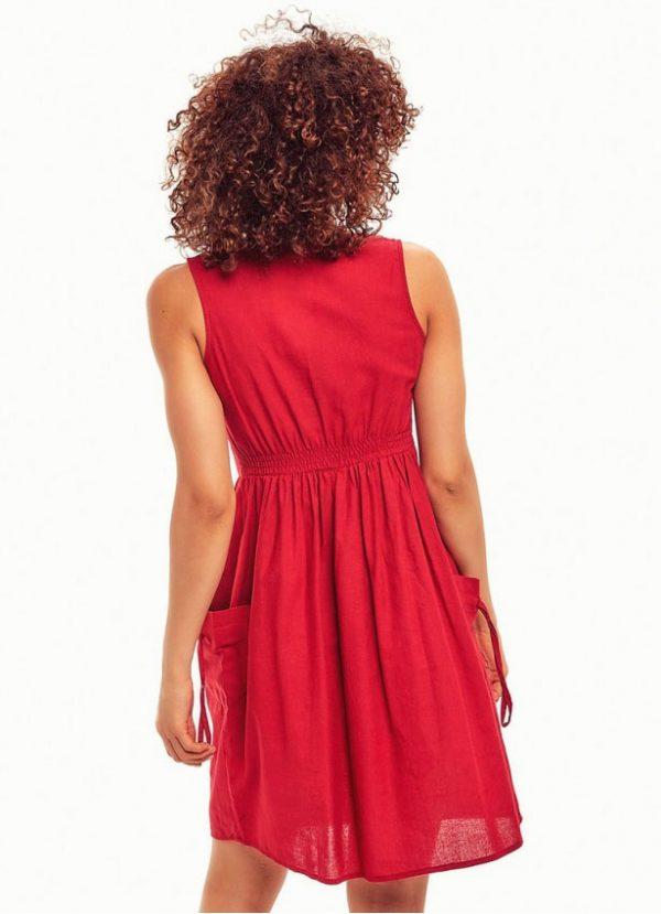 kirmizi-maroon-elbise-arka